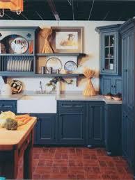 Blue Painted Kitchen Cabinets Best 25 Blue Country Kitchen Ideas On Pinterest Spanish Kitchen