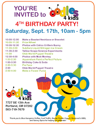 you u0027re invited to our 4th birthday party oodles 4 kids toy