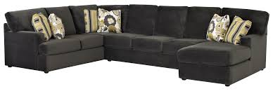 Klaussner Fabrics Sectional Sofa With Right Side Chaise By Klaussner Wolf And