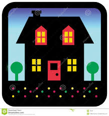 House Silhouette by House Silhouette Stock Images Image 78324