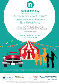 eliza street party for neighbour day 29 march 2015 play and go
