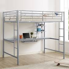 Metal Bunk Beds - Metal bunk bed with desk