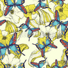 of flowers and butterflies pattern design