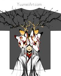 japanese mask t shirt design by yuumei on deviantart