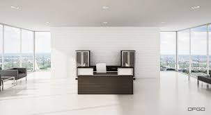 White Office Furniture Corner Reception Desk Modular Glass Laminate Modern