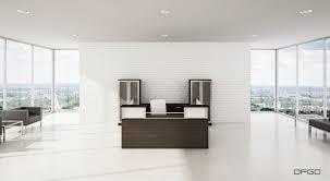Modern Office Desks Corner Reception Desk Modular Glass Laminate Modern