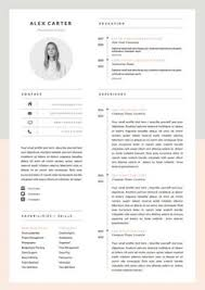 free minimal advanced resume template u2026 pinteres u2026