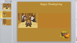 how to make simple thanksgiving 2012 card with powerpoint