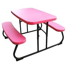 folding table with bench kids foldable picnic table lifetime kids picnic table with benches
