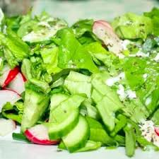 raw vegetable salad with creamy italian dressing recipe