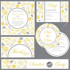 Wedding Invitations And Rsvp Cards Set Of Wedding Invitation Cards Invitation Thank You Card