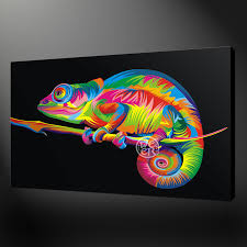 abstract chameleon quality canvas print picture wall art design