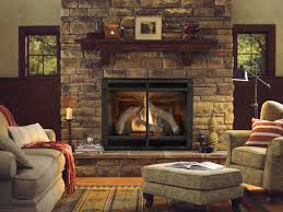 stone gas fireplaces home design