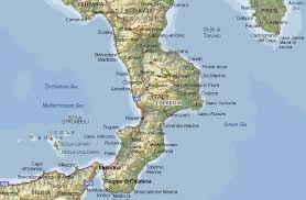 map of italy images a detailed map of calabria italy