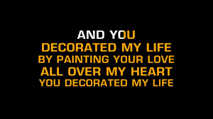 kenny rogers you decorated my life karaoke youtube