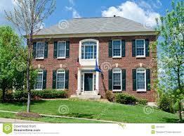 brick single family house home suburban md usa stock image image