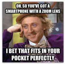 Funny Wonka Memes - posts funny condescending wonka meme to take a jab at samsung s s4