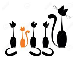 Cat Silhouette Halloween 2 365 Halloween Part Cliparts Stock Vector And Royalty Free