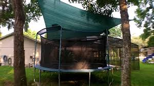 sail shade over trampoline great idea youtube