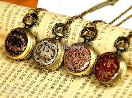 vintage necklace pocket watch images Unisex antique style locket pocket watch shape necklace women 39 s jpg