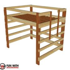 Bed Full Twin Size Loft Bed U2013 Full Plans U2013 Fun With Woodworking