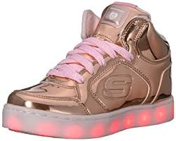 skechers light up shoes on off switch skechers girls energy lights trainers amazon co uk shoes bags