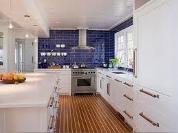 mediterranean kitchen cabinets blue glass backsplash kitchen