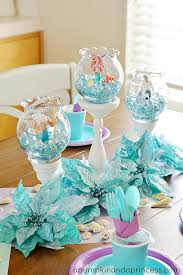 mermaid party supplies turquoise table mermaid decorations pinteres