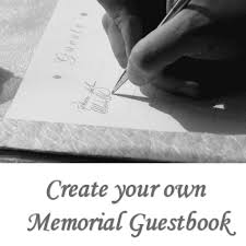 guest sign in book for funeral create your own memorial guest book