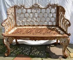cast iron garden bench in the style of kramer bros dayton ohio in