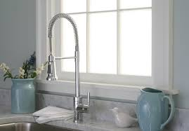 White Kitchen Faucets Premier 120334 Essen Single Handle Commercial Style Pull Down
