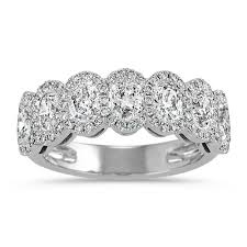halo wedding rings images Halo oval and round diamond wedding band shane co jpg&a