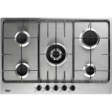 cuisiner au gaz ou à l électricité plaque de cuisson gaz 5 foyers inox faure fgg75524xa leroy merlin