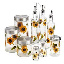 Kitchen Accessories And Decor Ideas Sunflower Kitchen Decor With Handpainted Sunflower Kitchen
