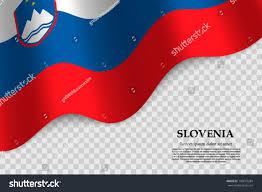 Flag Of Slovenia Waving Flag Slovenia On Transparent Background Stock Vector