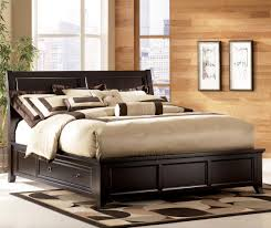 Small Master Bedroom With King Size Bed King Size Brown Varnished Maple Wood Captains Bed Frame Which
