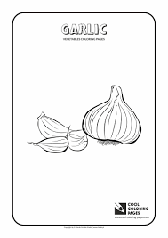 garlic coloring page cool coloring pages