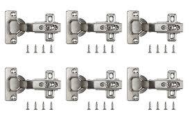 kitchen cupboard door hinge repair kit b q b q nickel plated metal sprung concealed hinge l 35mm pack of 6