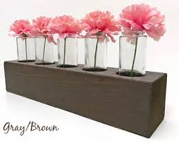 wood centerpieces etsy