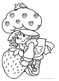 strawberry shortcake color coloring pages kids