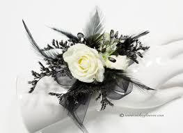 black and white corsage corsage boutonnieres prom homecoming vickie s flowers brighton