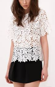 sleeve lace blouse white hollow out sleeves lace blouse â style