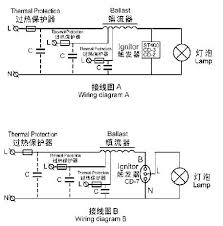 metal halide l circuit diagram sodium l ballast with ignitor inside china mainland ballasts