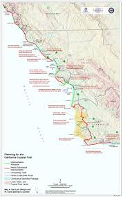 Santa Barbara California Map California Coastal Trail Map California Map