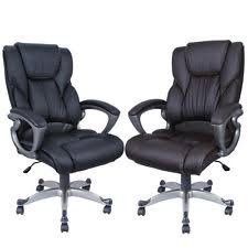 High Back Leather Armchair Brown Leather Executive Chair Ebay