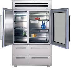 refrigerators with glass doors sub zero pro 48 refrigerator 48 inch stainless steel sub zero