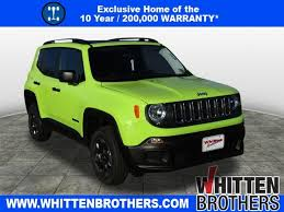 new jeep renegade green new 2017 jeep renegade sport 4d sport utility in richmond 170676