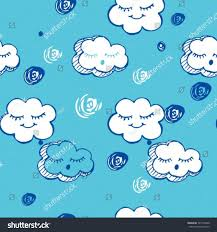 hand drawn cartoon clouds pattern vector stock vector 507194200