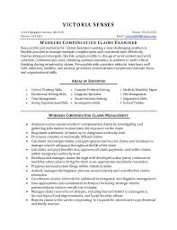 Critical Thinking Skills Resume Resume Sample Workers Compensation Claims