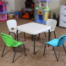 children u0027s table and chairs combo lime green chair almond table